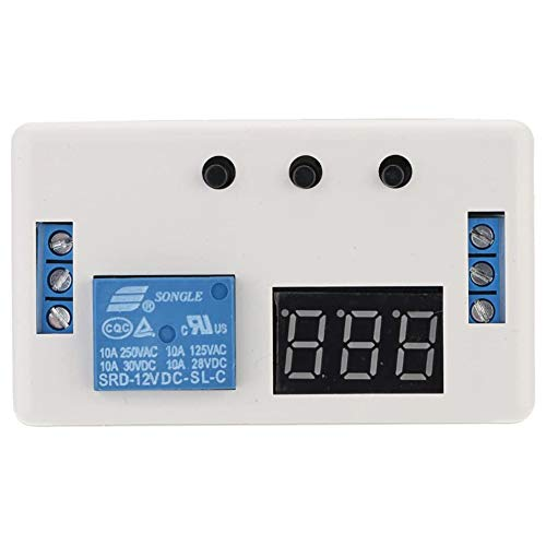 Cestbon 12 V LED d'automatisation Temporisateur de Commande Module de Commutation de Relais avec Le Cas,Bleu
