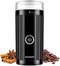 SHARDOR Coffee Grinder Electric, 70g/2.5oz Large Grinding Capacity Spice and Coffee Bean Grinder, Grinder for Grains and Herbs with Stainless Steel Bowl, Black