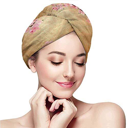 Xarchy Bonnets de Bain, Foulards, Fleurs, Arbre Sakura Cherry Blossom pour Femme