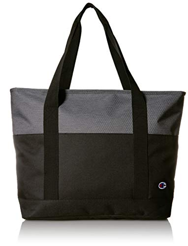 Champion Unisex-Adult's Signal Tote, Grey/black, One Size
