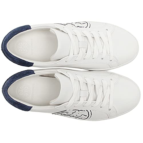 [トリーバーチ] アウトレット スニーカー シューズ 靴 ホワイト ネイビー レディース 74099 100 TーLOGO SNEAKER SNOW WHITE ROYAL NAVY 6.5(約23.5cm) [並行輸入品]