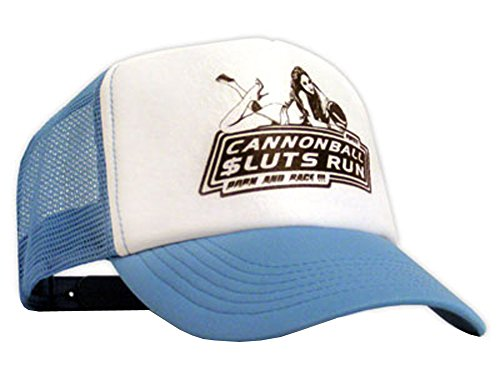 Bastart Caps Raphia type Cannonball sluts Run Casquette en maille Bleu