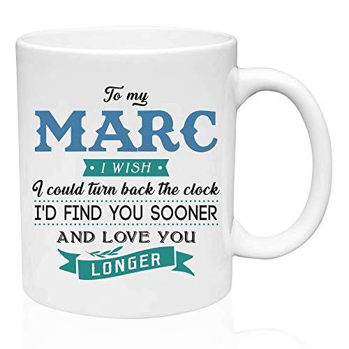 Regalos de San Valentín para él a mi Marc. Ojalá pudiera retroceder el reloj. Te encontraría antes y te amaría más tiempo. Regalo divertido para el esposo de la esposa, Ideas de regalos para San Valen
