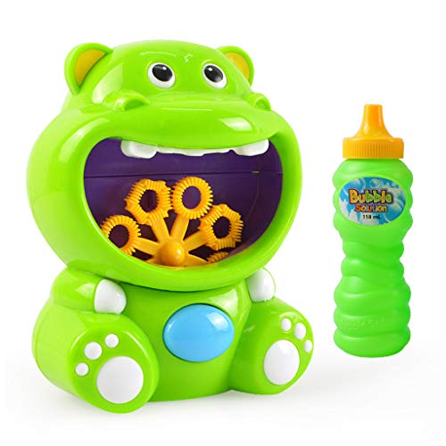 Ocobudbxw Electric Bubble Machine Cartoon Elephant/Hippo Bath Bubble Maker Toy para niños Niños Niñas