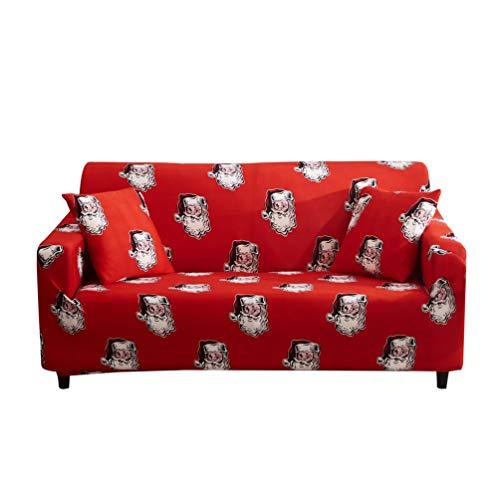 WanYangg Weich Sofabezug +Kissenbezug Sofaüberwurf Sesselhussen Elastisch Hautfreundlich Jacquard Sofa-Überwürfe, Spandex Sofahusse Abwaschbar U Set3 2 Seater:145-185cm