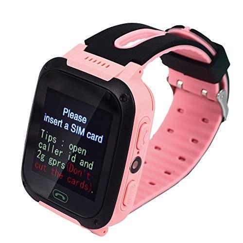 MINBB Niños Relojes Kid Reloj de pulsera Delicado Teléfono GSM SOS Reloj despertador