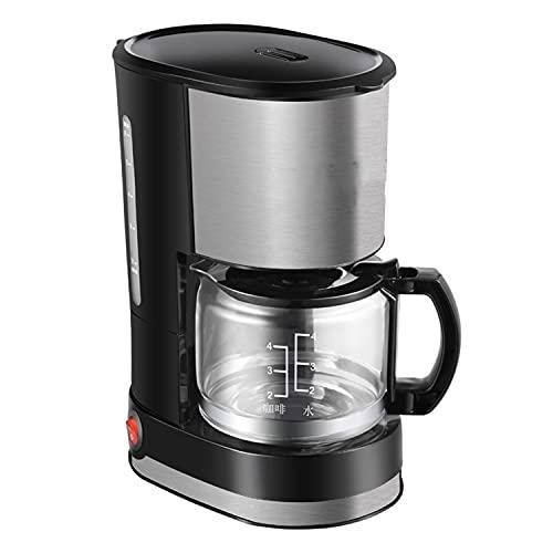 DDQQ Cafetera automática, cafetera Espresso, cafetera de Goteo Americana recién molida, cafetera de Acero Inoxidable (con Enchufe de conversión), Sistema de Calentamiento rápido, 600 vatios
