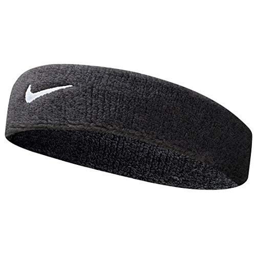 Nike Swoosh Headband (Black/White, Osfm)