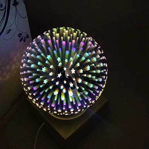 Lámparas de sobremesa en colores 3d lámpara de sobremesa de cristal cerradura de cristal USB en led para mesa de mesa navideña Estrellas