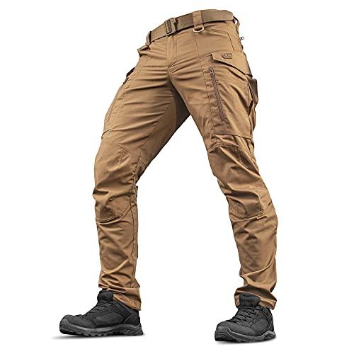 M-Tac Conquistador Flex Tactical Pants - Military Men's Cargo Pants with Pockets (Coyote Brown, W36 / L34)
