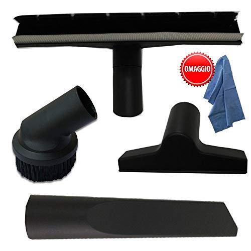Kit aspirapolvere Bidone Lavor modelli Vac, Venti, Trenta, 4 pz spazzole + bocchetta + IN OMAGGIO Panno professionale Parpyon – Accessori ricambi aspiratori
