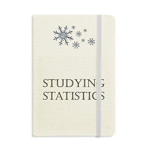 Frase Corta Estadísticas Cuaderno Grueso Copos De Nieve Invierno