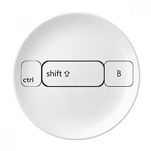 DIYthinker Toetsenbord Symbool ctrl shift B Decoratieve Porselein Dessert Plate 8 inch Diner Thuis Gift