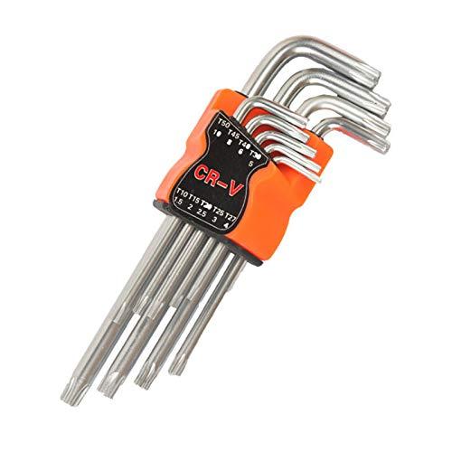 Sechskantschlüssel, Winkelschlüsselsatz für Innensechskant-Schrauben, Set 9-teilig 1.5 mm - 10 mm