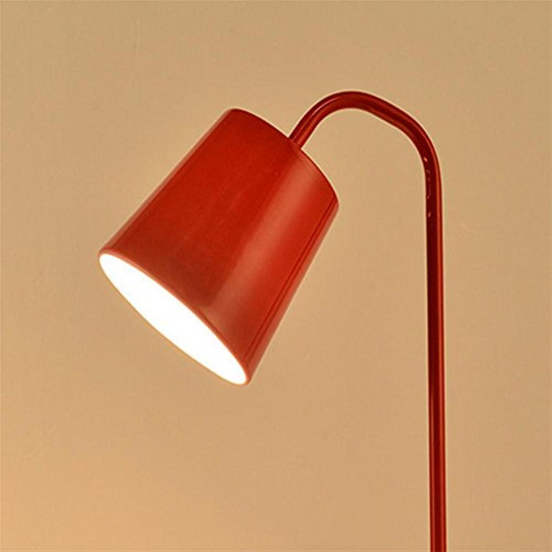 YUSHI Moderne Arbeitslampe Lampe aus Metall, rot