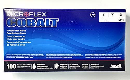 High Five Sportswear Sportswear Cobalt Nitrile Exam Gloves, Large, 100 Gloves