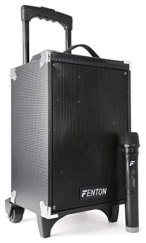 Fenton ST050 Mobiele Geluidsinstallatie met Bluetooth en Draadloze VHF Microfoons, met Bluetooth, USB en MP3 speler