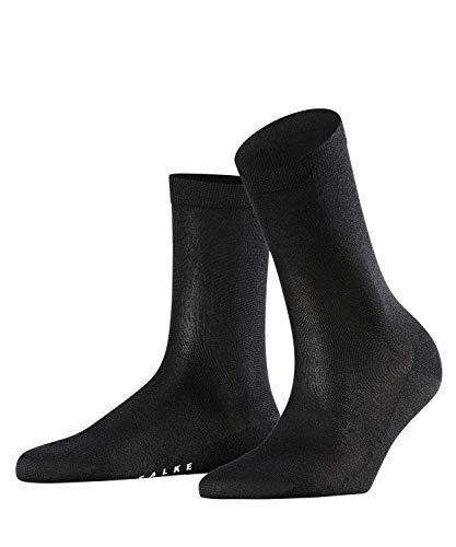 FALKE Damen Socken Sensual Silk - Baumwoll- /Seidegemisch, 1 Paar, Schwarz (Black 3009), Größe: 37-38