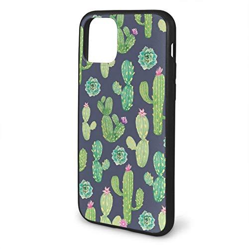 Funda de silicona líquida compatible con iPhone 11 de 6.1 pulgadas, gel de goma de cuerpo completo protección a prueba de golpes Funda de protección contra caídas – Cactus