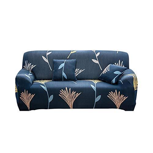 Hylshan Funda elástica para sofá de 1/2/3/4 plazas para sala de estar, antideslizante, elástica, funda seccional, funda para sillón esquinero en forma de L, T01HB3461-4 plazas, 235-300 cm