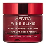 APIVITA Wine Elixir Wrinkle & Firmness Lift Cream Light Texture 1.73 fl.oz. | Anti Aging Lotion to Reduce Wrinkles and Firm Skin