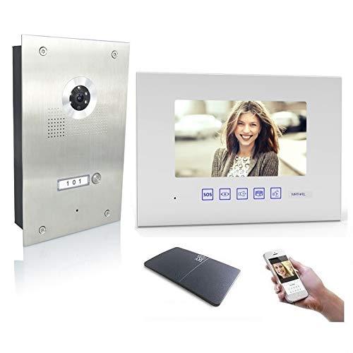 4 Draht Video Türsprechanlage Gegensprechanlage 7', Farbe: Mit, Größe: 1x7'' Monitor mit WLAN Schnittstelle