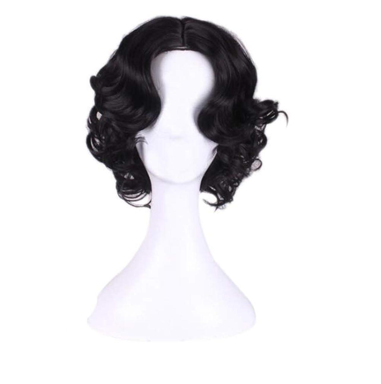 適応する反抗すばらしいですかつら短毛の合成ハロウィーンの役割中型の短い髪の女性、高品質のかつらを演奏