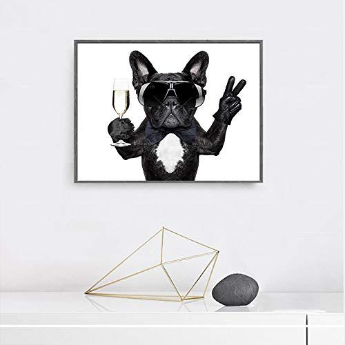 KWzEQ Imprimir en Lienzo Bulldog para póster de Sala de