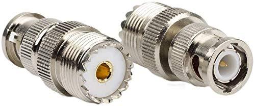 DHT Electronics 2pcs RF coaxial coax adapter BNC male to UHF female SO-239 SO239