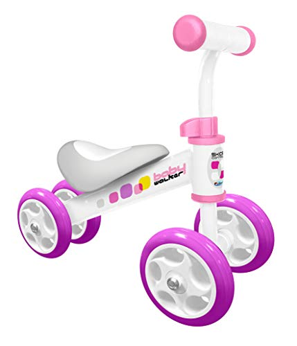 STAMP JS123251 Running Bike/Loopfiets SKIDS Control Girl Baby-Walker, Roze