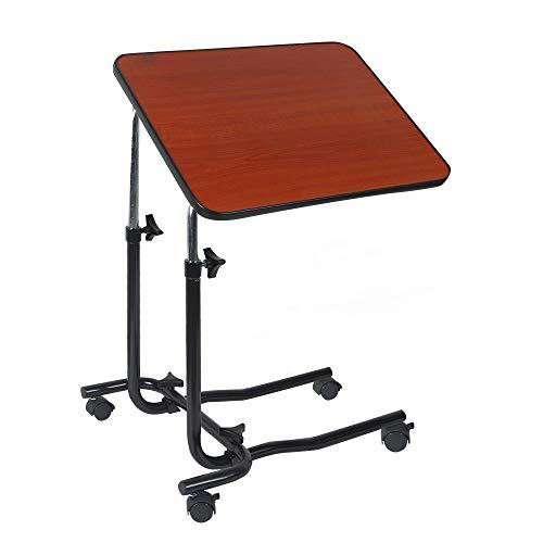 Yuzhijie Mesita de noche médica portátil elevable, cuidado del paciente cama mesa de comedor, mesa de ordenador simple