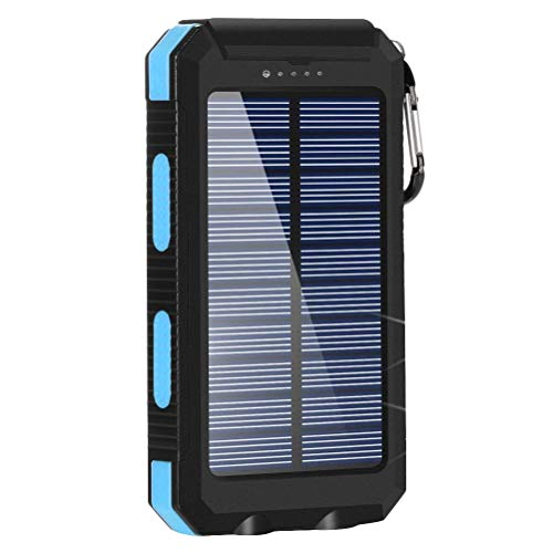 PQZATX Cargador Solar, Cargador de TeléFono Solar 8000MAH Banco de EnergíA...