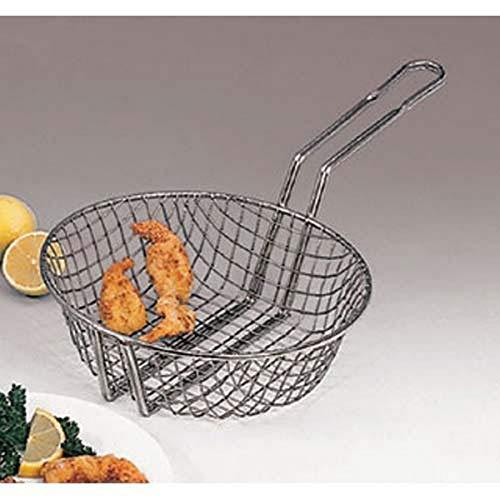 "American Metalcraft CBC12 Culinary Basket, Coarse Mesh, Tinned Steel, 9"" Handle, 12"" Dia., 3"" H"