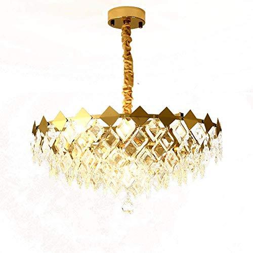 MAZ Luguelier Pendentif Lumière Suspendue Postmoderne Salon Pendentif Éclairage, All-Copper Creative Home Lighting Fixtures, Restaurant Landelier de Cristal Luxueux,9 Têtes