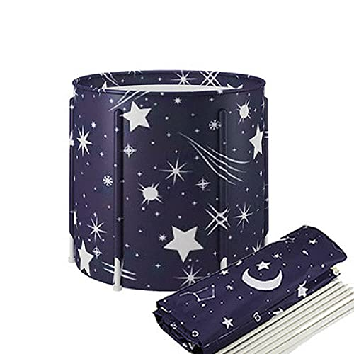 Adult Cloth Holder Folding Bathtub Large Household Thickened Bathtub Can Store Portable Bathtub-Starry sky 1