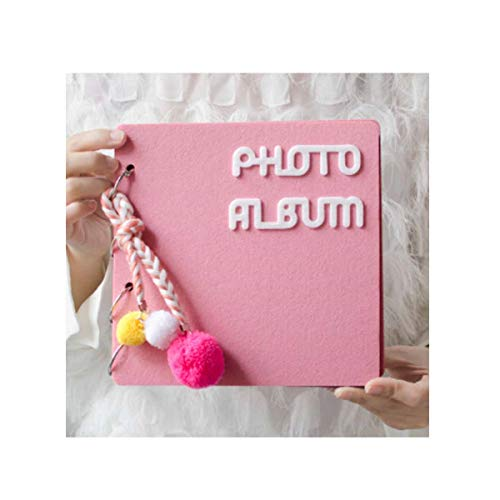 YXIAOn Fotoalbum, Traditioneel Fotoalbum, Cartoon Creatief Plakalbum, Roze Leg je mooie momenten vast