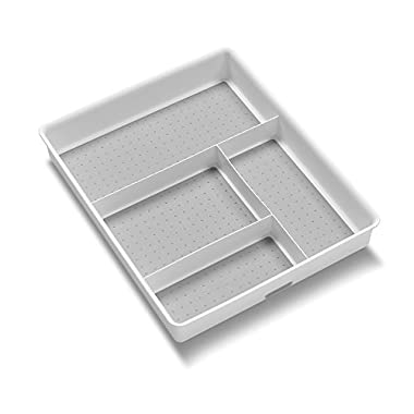 madesmart Basic Gadget Tray Organizer, White