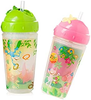 Evenflo Feeding ZF Insulated Straw Cup 10 oz, 2 Count