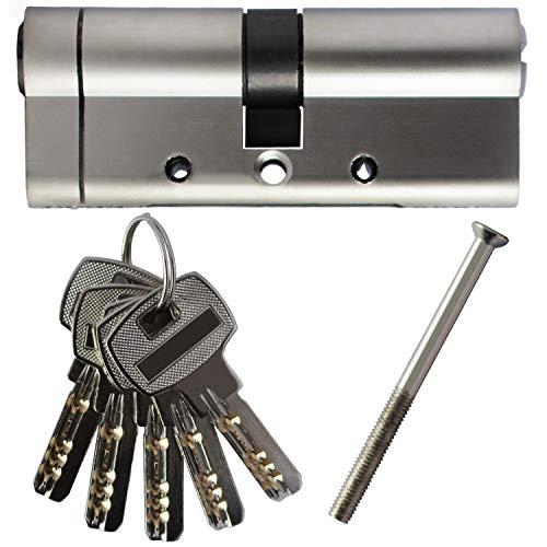 Sepox hochwertiges Zylinderschloss aus Kupfer, Kern aus Messing-Kupfer, Schlüssel aus Kupfer, Euro-Zylinder, Anti-Schnapp-Zylinder, mit 5Schlüsseln