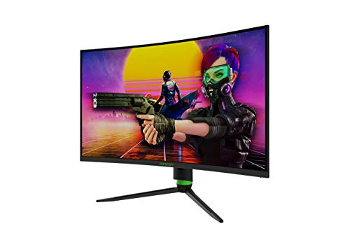Monster Aryond A32 V1.1 Gaming Curved Monitor, 32 Zoll 165Hz Curved QHD (2560x1440) Display 1ms Reaktionszeit, HDR 10-Verhältnis FreeSync und G-Sync 119,9% SRGB, PC Bildschirm, HDMI Anschluss