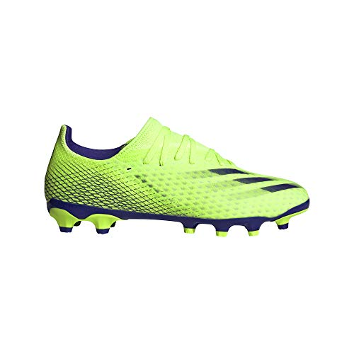 adidas X Ghosted.3 MG, Bota de fútbol, Signal Green-Energy Ink-Signal Green, Talla 12 UK (47 1/3 EU)