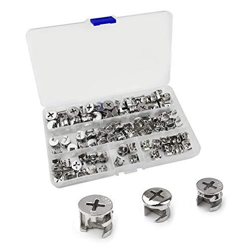 75 Stück Möbelverbindungsbeschläge, Möbelverbindungsbefestigung, Schrankverbinder, Hardware-Schrauben
