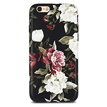 GOLINK Floral Series Slim-Fit Ultra-Thin Anti-Scratch Shock Proof Dust Proof Anti-Finger Print TPU Case for iPhone 6/iPhone 6S 4.7 -White Red Rose