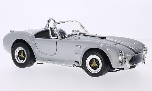 Shelby Cobra 427 S/C, silber/schwarz, 1964, Modellauto, Fertigmodell, Lucky Die Cast 1:18