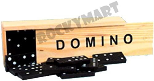 Dominoes - Classic Tile Game - 28 Piece Set by ROCKYMART