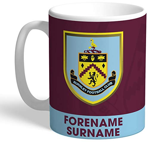 Burnley Personalised FC Bold Crest Mug