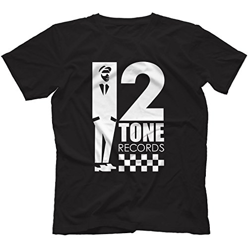 Bees Knees Tees 2 Tone Records T-Shirt 100% Cotton | Reggae Ska Trojan Rocksteady The Specials[Large,Black]