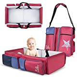 Koalaty 3-in-1 Universal Baby Travel Bag, Portable Bassinet Crib, Changing Station, Diaper Bag for Infants and Newborns.