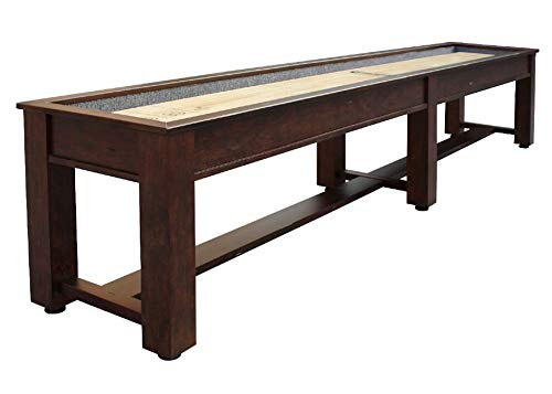 Purchase Berner Billiards The Rustic 12 Foot Shuffleboard Table in Brown