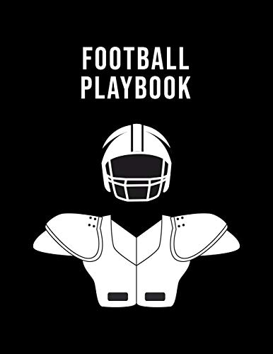 Football Playbook: Undated 12-Month Calendar, Team Roster, Player Statistics For High School Coaches And Players With Play Design Field Blank Pages